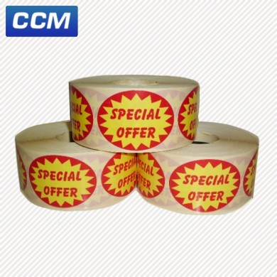 Special Offer promotional labels